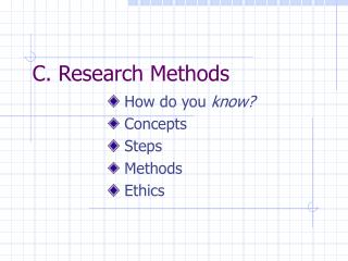 C. Research Methods