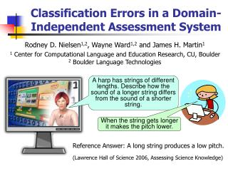 Classification Errors in a Domain-Independent Assessment System
