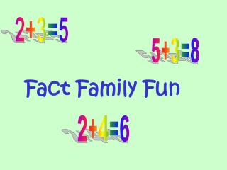 Fact Family Fun