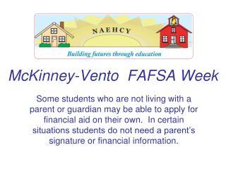 McKinney-Vento  FAFSA Week