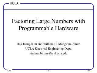 Factoring Large Numbers with Programmable Hardware