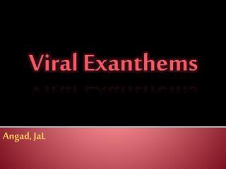Viral  Exanthems