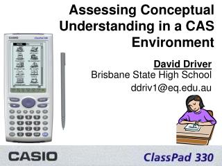 Assessing Conceptual Understanding in a CAS Environment
