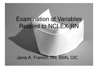 Examination of Variables Related to NCLEX-RN