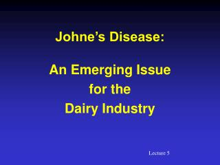 Johne's Disease: