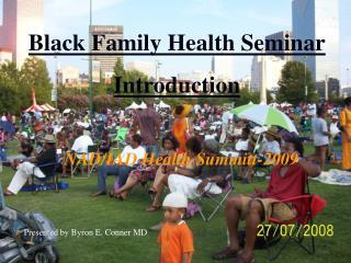 Black Family Health Seminar Introduction