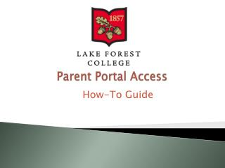 Parent Portal Access