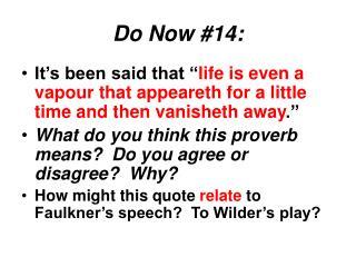 Do Now #14: