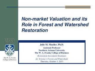 Non-market Valuation and its Role in Forest and Watershed Restoration