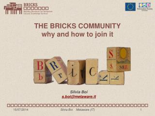 THE BRICKS COMMUNITY why and how to join it
