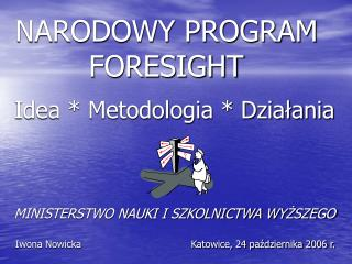 NARODOWY PROGRAM FORESIGHT