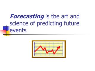 Forecasting  is the art and science of predicting future events
