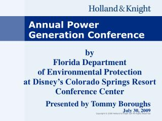 by  Florida Department  of Environmental Protection at Disney's Colorado Springs Resort Conference Center