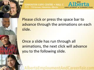 Please click or press the space bar to advance through the animations on each slide.