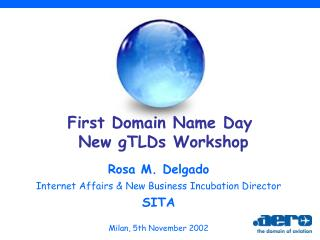 First Domain Name Day  New gTLDs Workshop