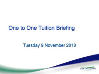 One to One Tuition Briefing