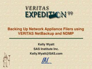 Backing Up Network Appliance Filers using VERITAS NetBackup and NDMP