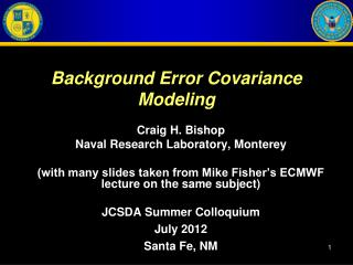 Background Error Covariance Modeling