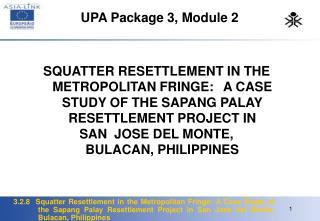 UPA Package 3, Module 2