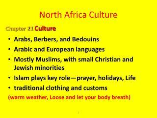 North Africa Culture