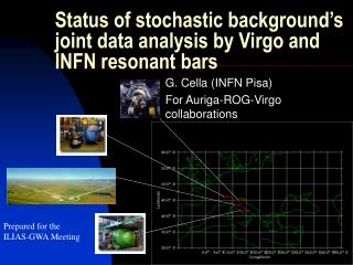 Status of stochastic background's joint data analysis by Virgo and INFN resonant bars