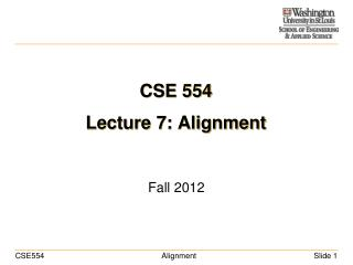 CSE 554 Lecture 7: Alignment