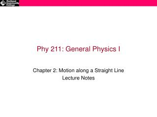 Phy 211: General Physics I