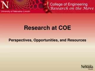 Research at COE