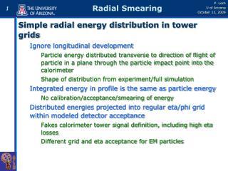 Radial Smearing