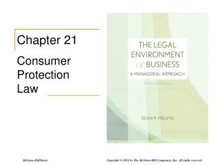 Chapter 21 Consumer Protection Law