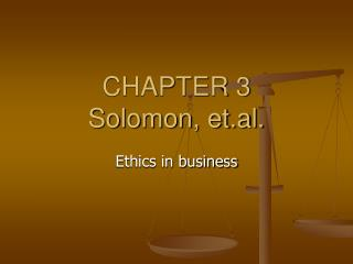 CHAPTER 3 Solomon, et.al.
