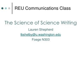 REU Communications Class