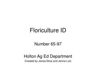 Floriculture ID