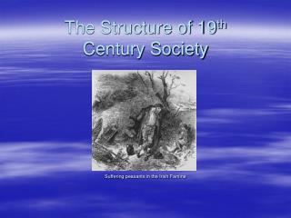 The Structure of 19 th  Century Society
