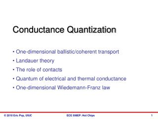 Conductance Quantization