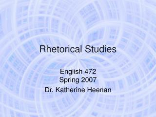 Rhetorical Studies
