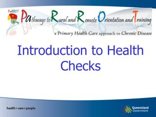 Introduction to Health Checks