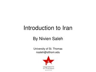 Introduction to Iran