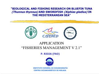 �BIOLOGICAL AND FISHING RESEARCH ON BLUEFIN TUNA  (Thunnus thynnus)  AND SWORDFISH  (Xiphias gladius)  IN THE MEDITERRA
