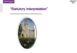 """Statutory interpretation"""