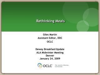 Rethinking Meals