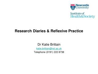 Research Diaries & Reflexive Practice