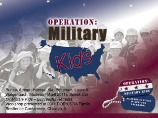 Speak Out for Military Kids Retreat