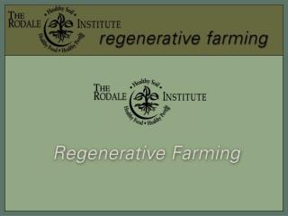 The Rodale Institute works with farmers, educators and policymakers worldwide