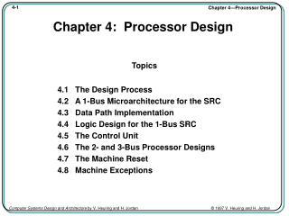 Chapter 4:  Processor Design