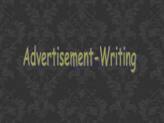 Advertisement-Writing