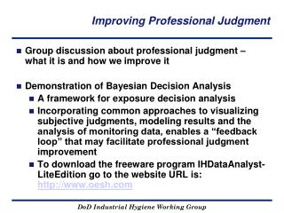Improving Professional Judgment
