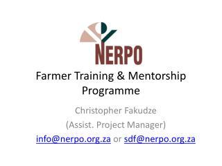 Farmer Training & Mentorship Programme