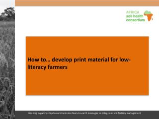 How to… develop print material for low-literacy farmers