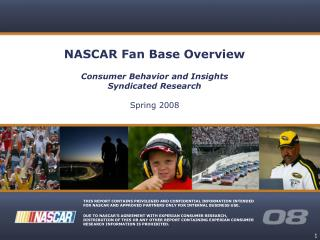 NASCAR Fan Base Overview Consumer Behavior and Insights Syndicated Research Spring 2008